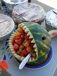 fruit basket i ate watermelon shark fruit basket food
