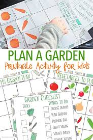 printable vegetable planner a fun way for kids to plan a garden garden planner vegetable