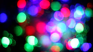 blurred multicolored lights with bokeh defocused motion abstract