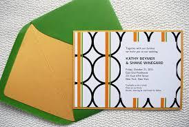 diy wedding invitations templates free modern orange and green diy wedding invitation seen in style