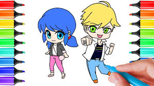 miraculous ladybug coloring pages chibi how to draw miraculous