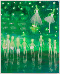 new american paintings katherine bradford prom swim green 2016 acrylic on canvas 60 x 48 in courtesy of canada gallery