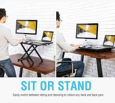 Standing Or Sitting Desk Standing Desk Height Adjustable Sit To Stand Monitor Desk With