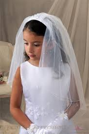 communion veil communion headband veil with raised flowers shop