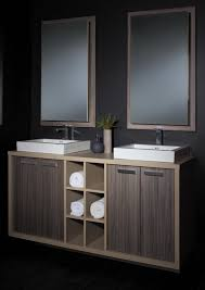 Square Sink Vanity Unit Excellent Vanity Units For Bathroom Using Walnut Veneer Cabinet