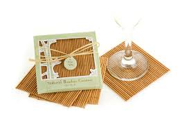 coaster favors bamboo eco friendly coaster favors four