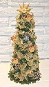 burlap christmas burlap christmas tree family crafts