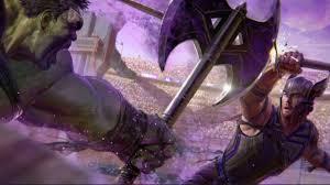 ragnarok new thor ragnarok concept art reveals a mighty thor vs hulk