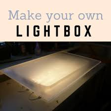 Drafting Table With Light Box How To Make Your Own Lightbox For Tracing On Watercolor Paper
