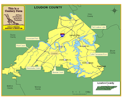 Map Of Tennessee River by Loudon County Tennessee Century Farms