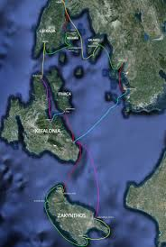 Ithaca Greece Map by Ionian Islands Outline Of The Route Taken Blacknells At Sea