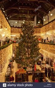 department store decoration christmas tree stock photos