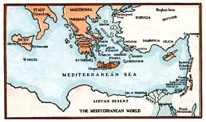 Where Is Greece On The Map by Mediterranean Sea