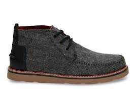 s boots charcoal fleck s chukka boots toms