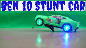 crazy ben 10 toy car kids green colour remote control stunt