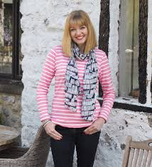 the perfect pink striped top for town and country dressing