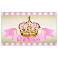 baby shower banners pink gold princess crown baby shower banner zazzle