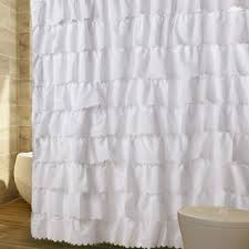 Frilly Shower Curtain Ruffle Shower Curtain Home Decor Insights