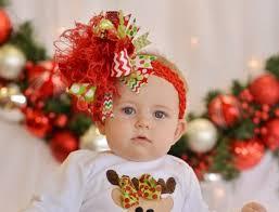 baby bows christmas celebration the top hair bow headband