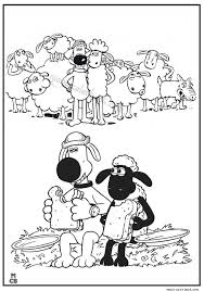 26 shaun sheep coloring pages free images