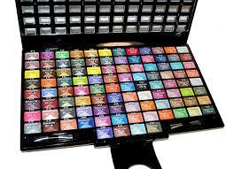 amazon com elegant 100 piece glitter eyeshadow makeup kit in