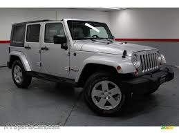 grey jeep rubicon 2007 jeep wrangler unlimited sahara 4x4 in bright silver metallic