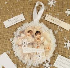 cottage hill vintage style recycled cd card ornaments