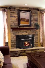 living room fabulous faux stacked stone fireplace inserts and
