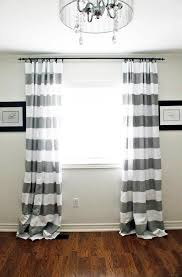 Black And White Bedroom Drapes Interior Design Chenille Horizontal Striped Curtains For Family