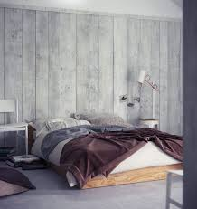 grey wood panel bedroom walls