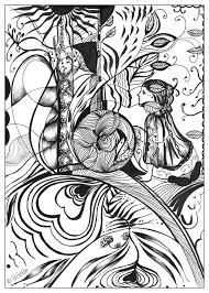 reflection of love urielle zen and anti stress coloring pages