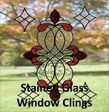 sj home interiors and wall decor stained glass window clings
