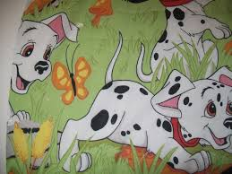 as is 101 dalmation disney twin single flat bed sheet material