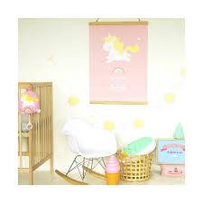 poster chambre fille poster bébé licorne