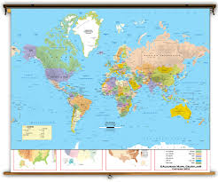 Argentina World Map by Intermediate U S U0026 World Political Classroom Map Combination From