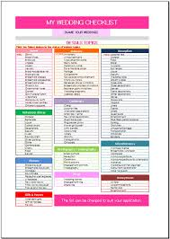 wedding checklist free wedding checklist template