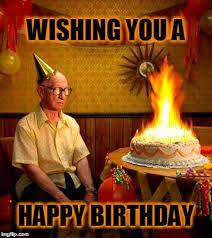Meme Birthday Cake - image tagged in happy birthday burning man birthday cake cake imgflip