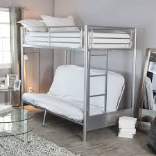 Duro Wesley Twin Over Futon Bunk Bed Silver Hayneedle - Twin over futon bunk bed with mattress