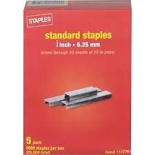 staples standard staples 1 4