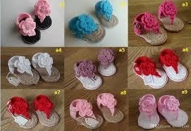 beautiful flower baby crochet wool sandals summer soft bottom flip