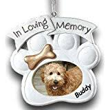 in loving memory pet memorial ornament personalized
