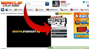 play monster truck miniclip 7 steps pictures