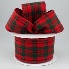 and black plaid ribbon 2 5 flannel plaid ribbon green black 10 yards