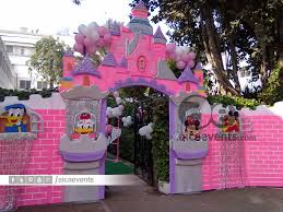 interior design view princess themed birthday party decorations