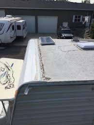 travel trailer roof repair roofing decoration