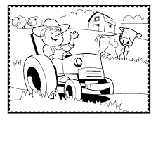 animals tractor coloring pages picture trailer farm printable