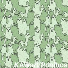 background halloween repeating ghosts background pattern ghost