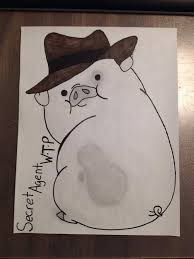secret agent w u2022t u2022p waddles the pig cartoon amino