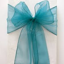 turquoise chair sashes 25pcs lot wedding chair sashes multicolors organza chair sashes