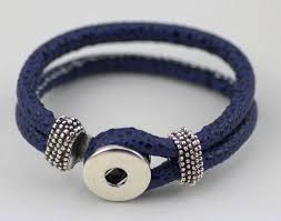 leather bracelet with silver charms images Women noosa interchangeable pu leather bracelet ginger snap jpg